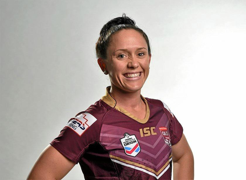 BACK IN ACTION: Maroons' representative Brittany Breayley made a successful return from a shoulder injury against the Toowoomba Valleys Roosters.