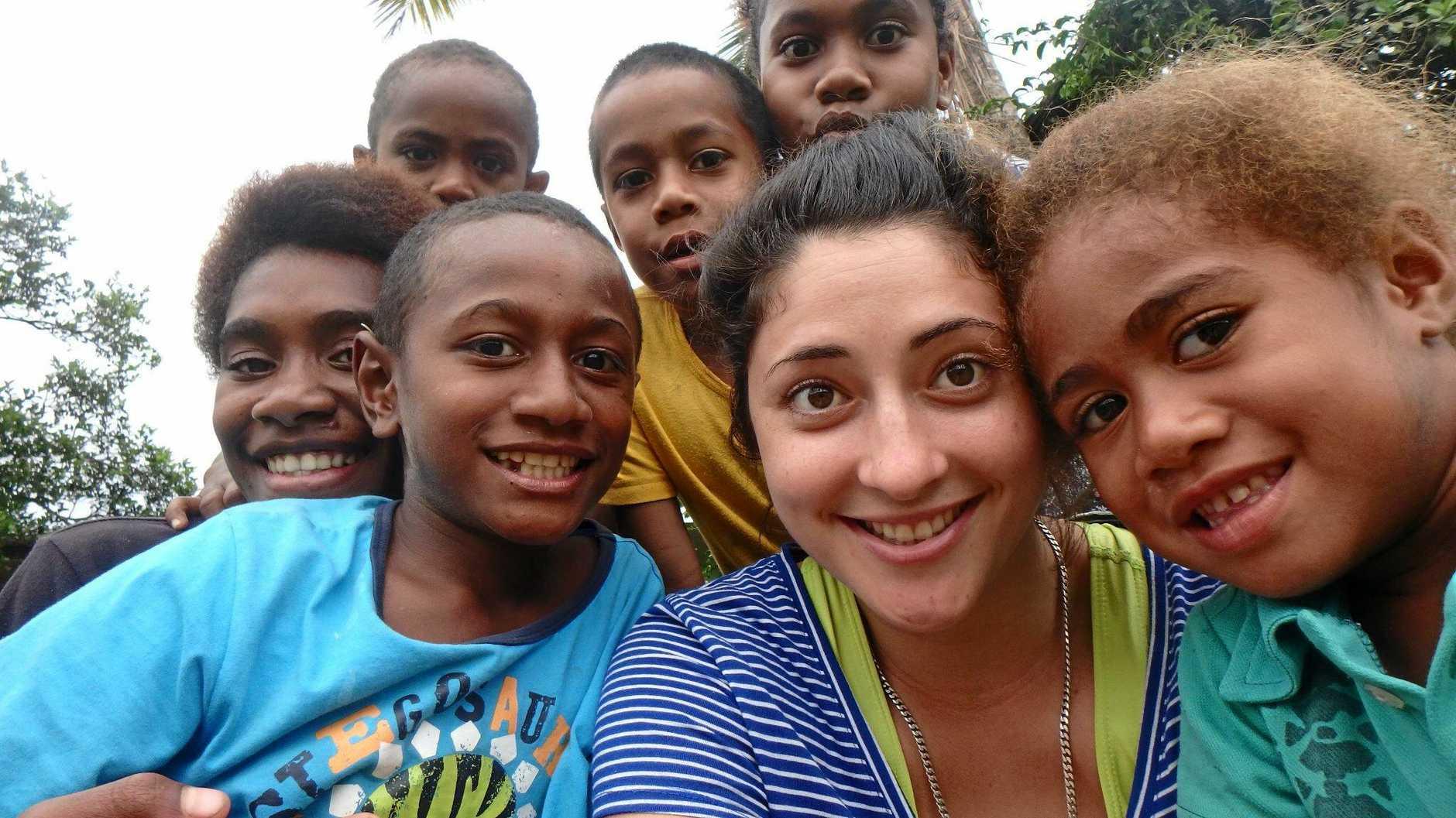 GLOBAL CITIZEN: Mudjimba's Renee Currenti in Fiji.