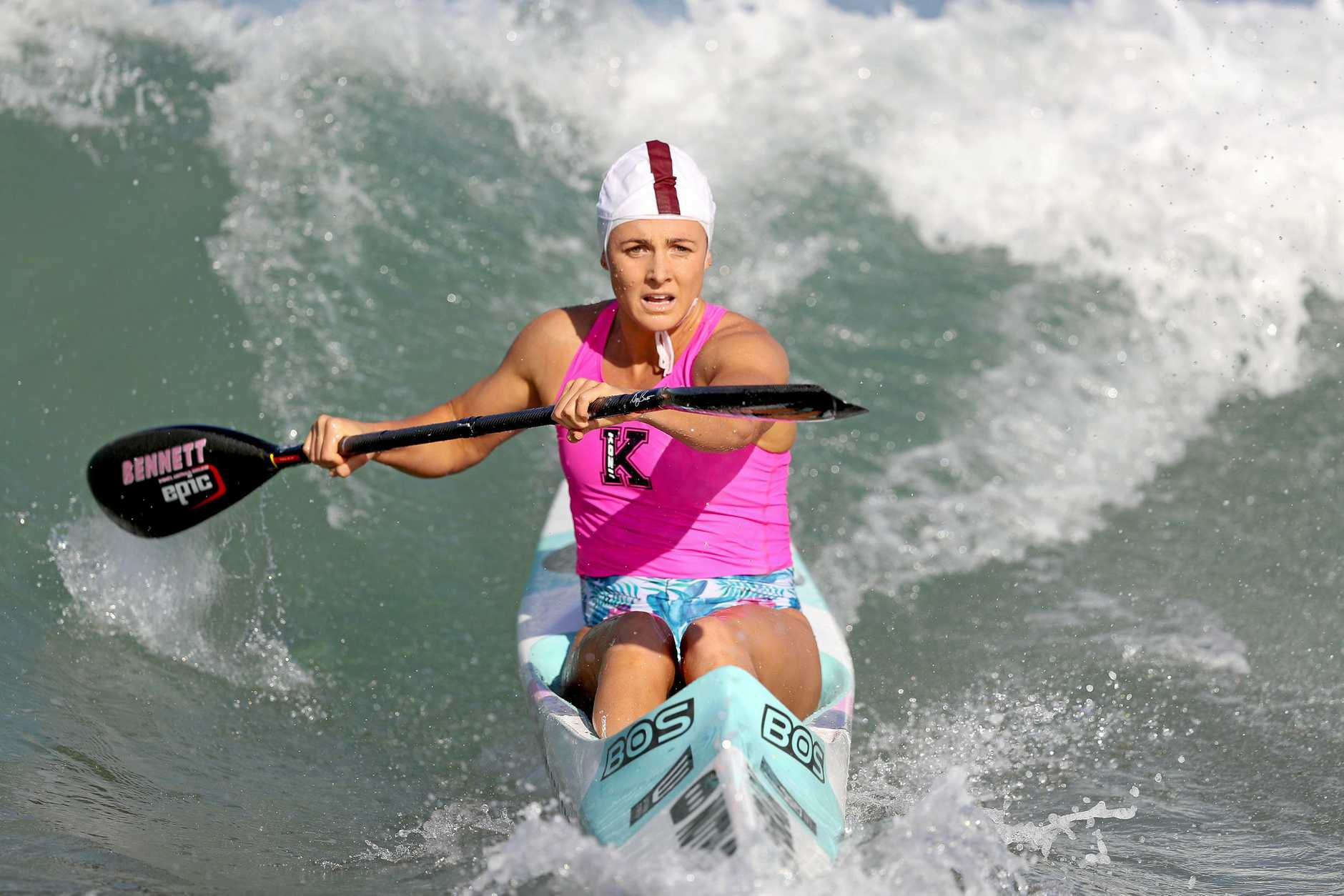 BACK ONBOARD: Noosa Heads athlete Jordan Mercer has the 53km Molokai Challenge (surf ski) on May 26 in her sights.