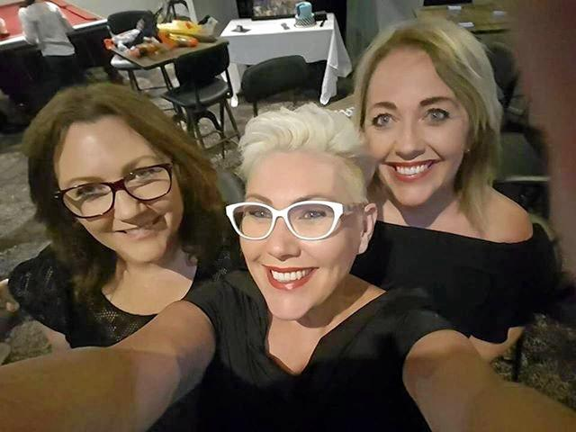 SISTER ACT: Bundaberg's Lisa Sly with Newcastle woman Stephanie de Sousa who is on Master Chef and their sister Therese Alexander from the Gold Coast.