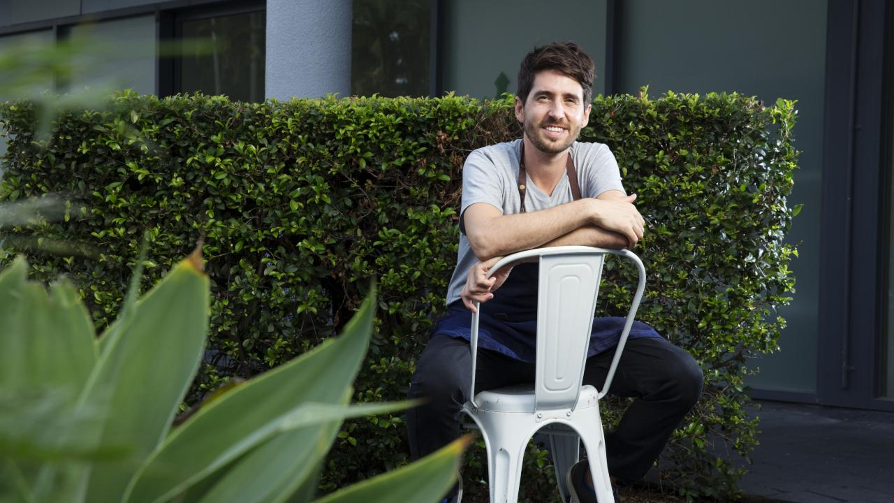 Vegan chef Alejandro Cancino will be opening a vegan, degustation-only restaurant in Noosa later this year. Picture: Lachie Millard
