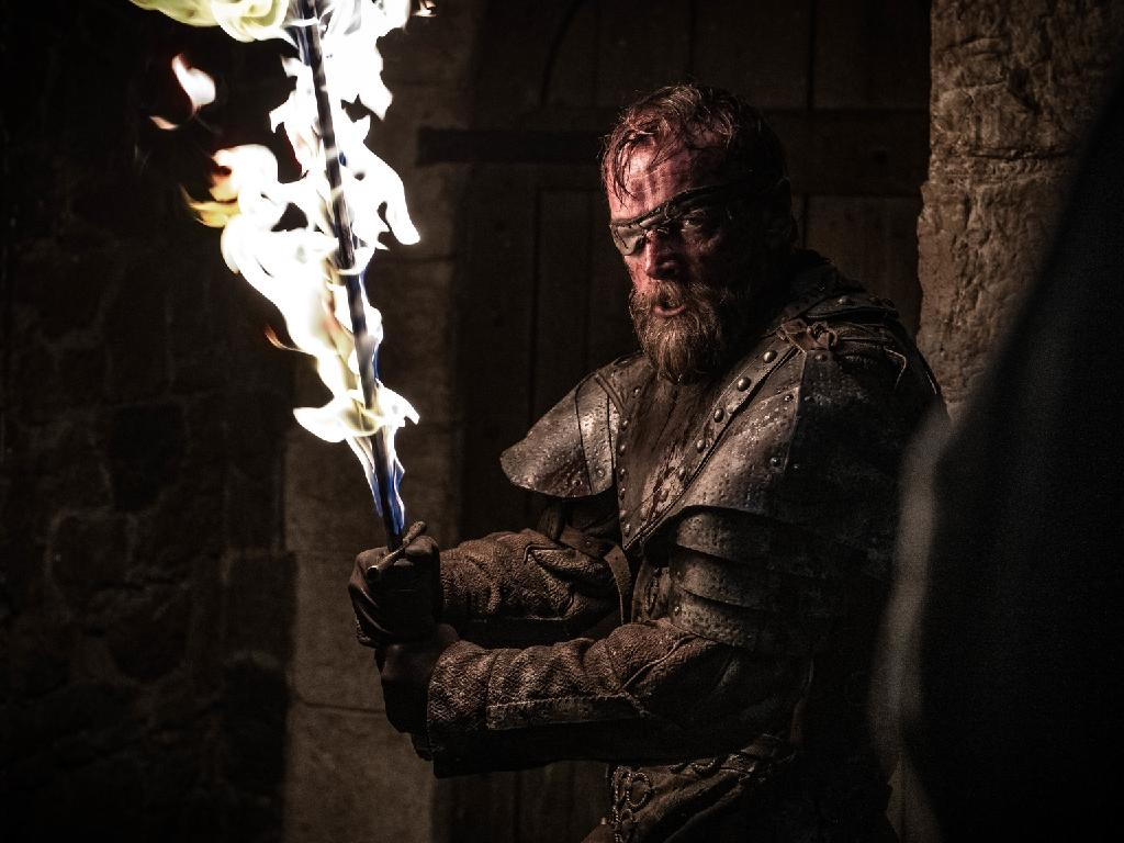 Flamin' heck, looks like Beric's been dudded by the scriptwriters.