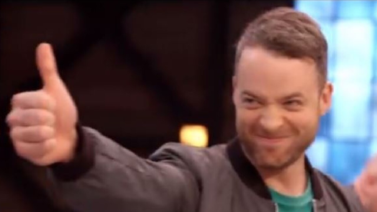 Screenshot of Hamish Blake in Lego Masters