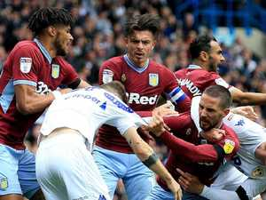 Chaotic scenes as Villa score uncontested goal