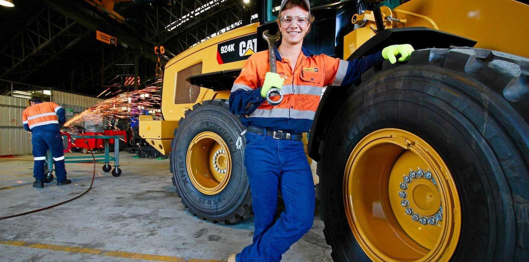 Mackay diesel fitter Tom Bourne has won the CAT Top Dealer Apprentice of the Year award.