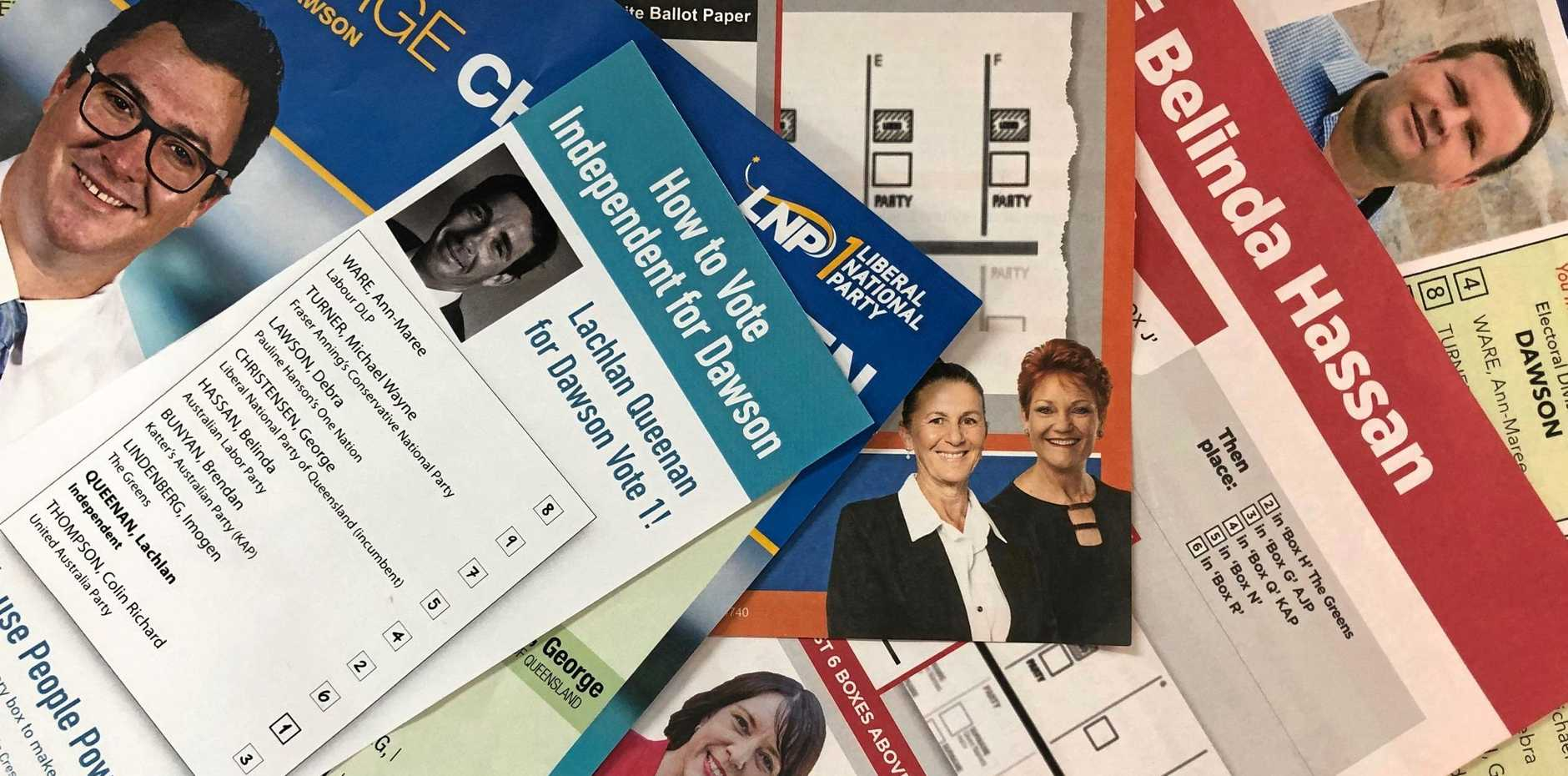 How to vote cards from the 2019 Federal Election.