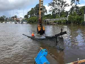 REMOVED: Sunken wrecks retrieved from Mary River