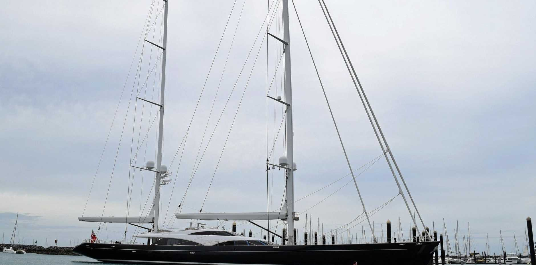 Superyacht Twizzle arrives in the Abell Point Marina on Monday, April 29.