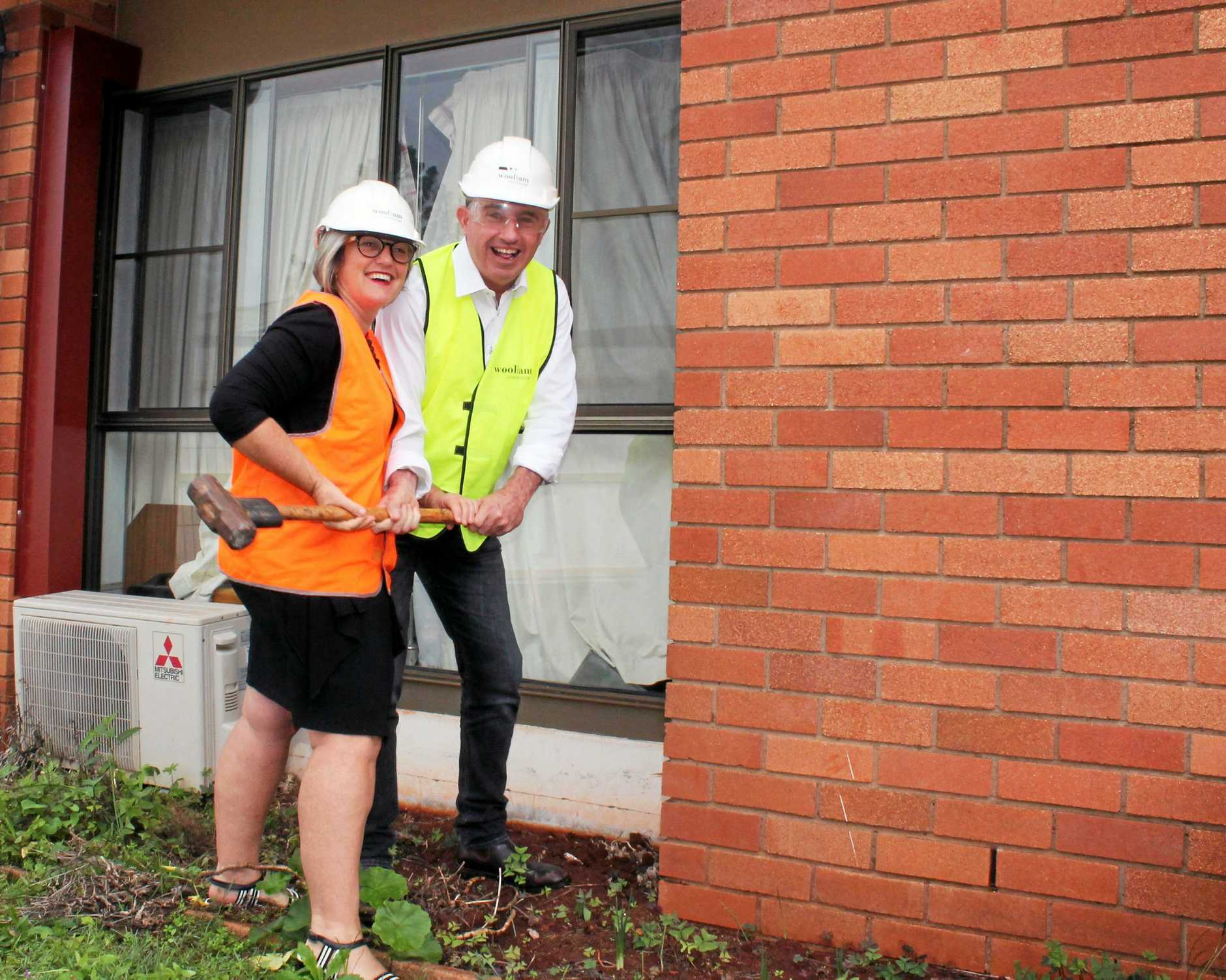 Director of Care Services for Whiddon Kyogle, Kathy Gibson, with Page MP Kevin Hogan.
