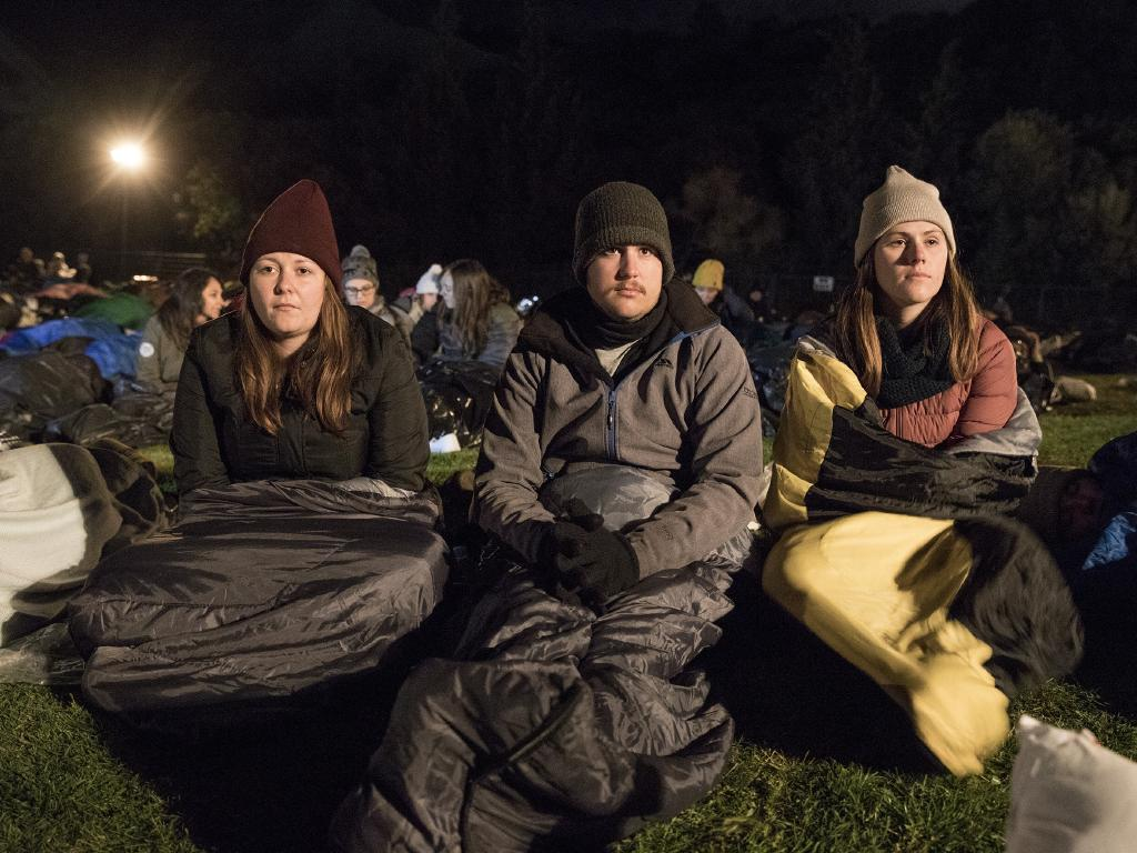 Aussies gather for last week's dawn service at Anzac Cove at Gallipoli Picture: Ella Pellegrini