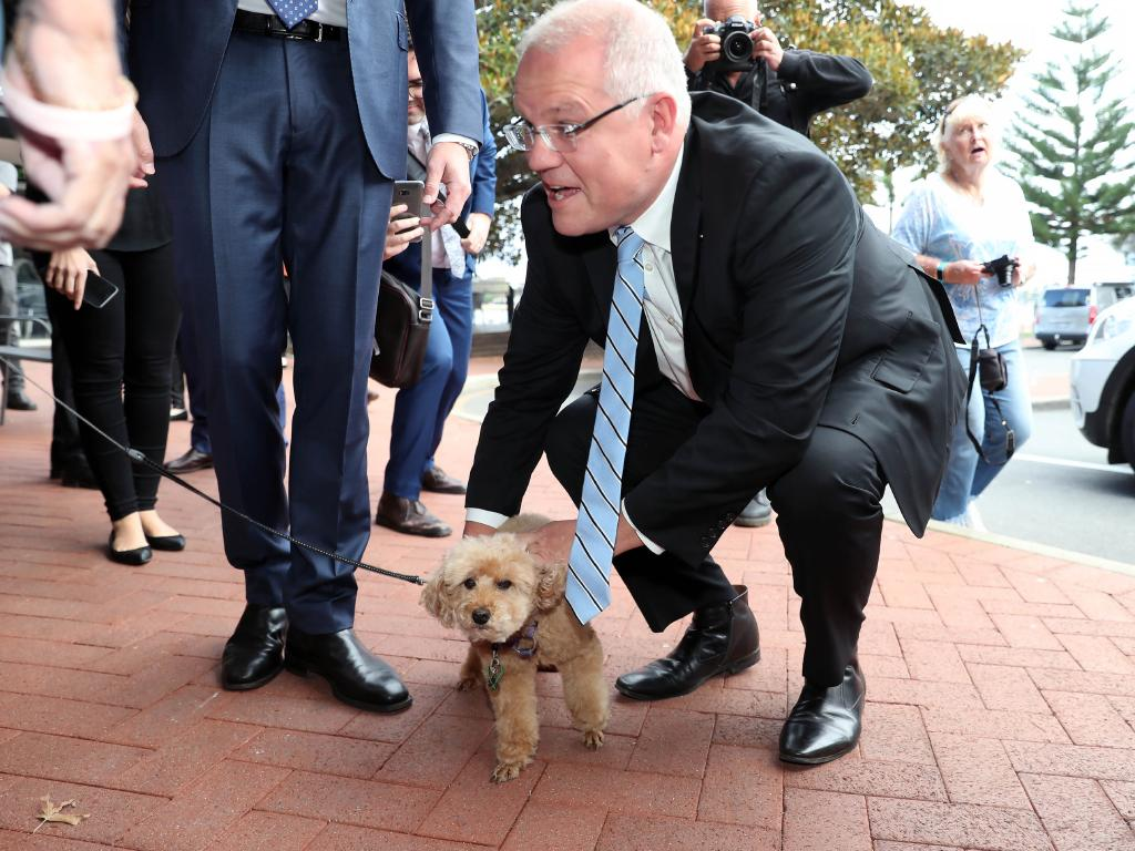 Prime Minister Scott Morrison on the campaign trail. Picture: Gary Ramage