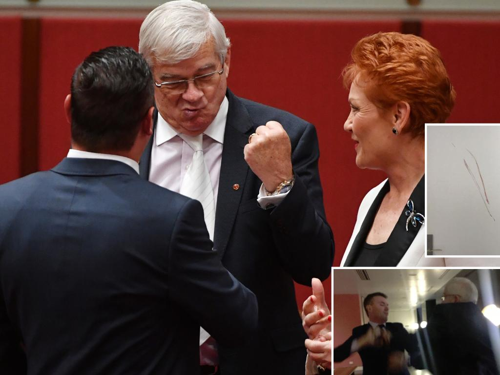 Senator Brian Burston abandoned Pauline Hanson and defected to Clive Palmer's party. Picture: Mick Tsikas.