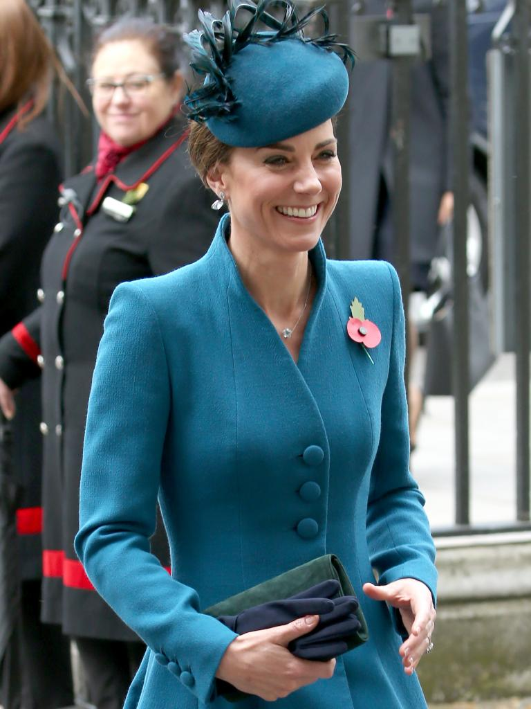 Kate, attending the Anzac Day Services at Westminster Abbey last week. Picture: Trevor Adams/Matrix Pictures