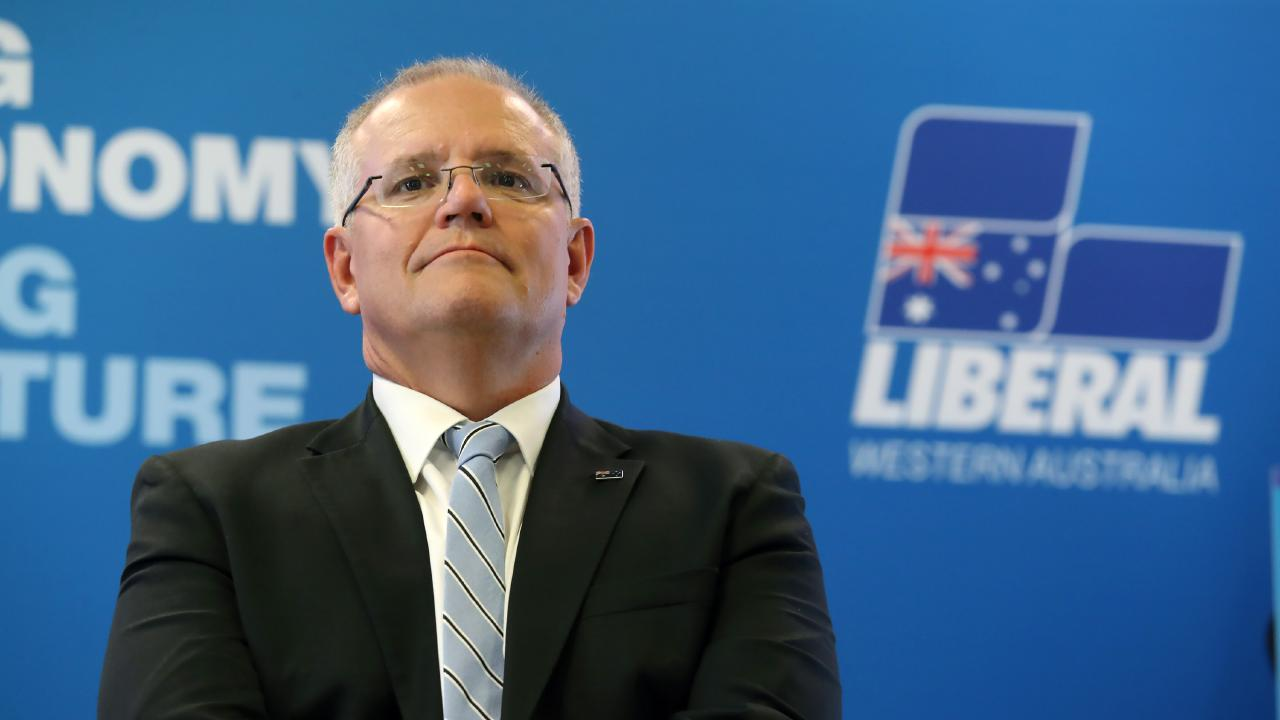 Prime Minister Scott Morrison campaigning in Perth yesterday. Picture Gary Ramage