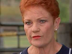 Hanson storms off after fiery clash with media