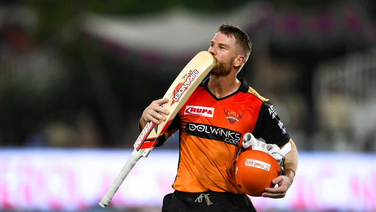David Warner has signed off from the IPL in swashbuckling style.