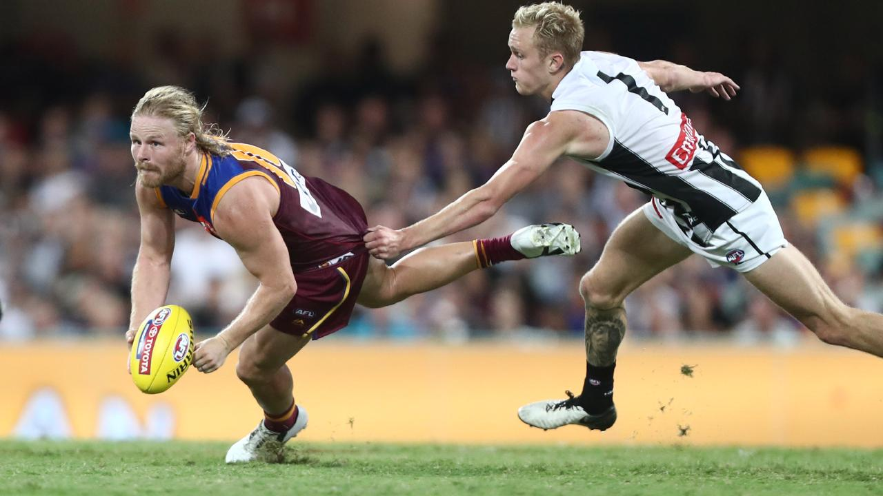 Daniel Rich (left) has been among Brisbane's best in their 4-2 start to 2019. Picture: Chris Hyde