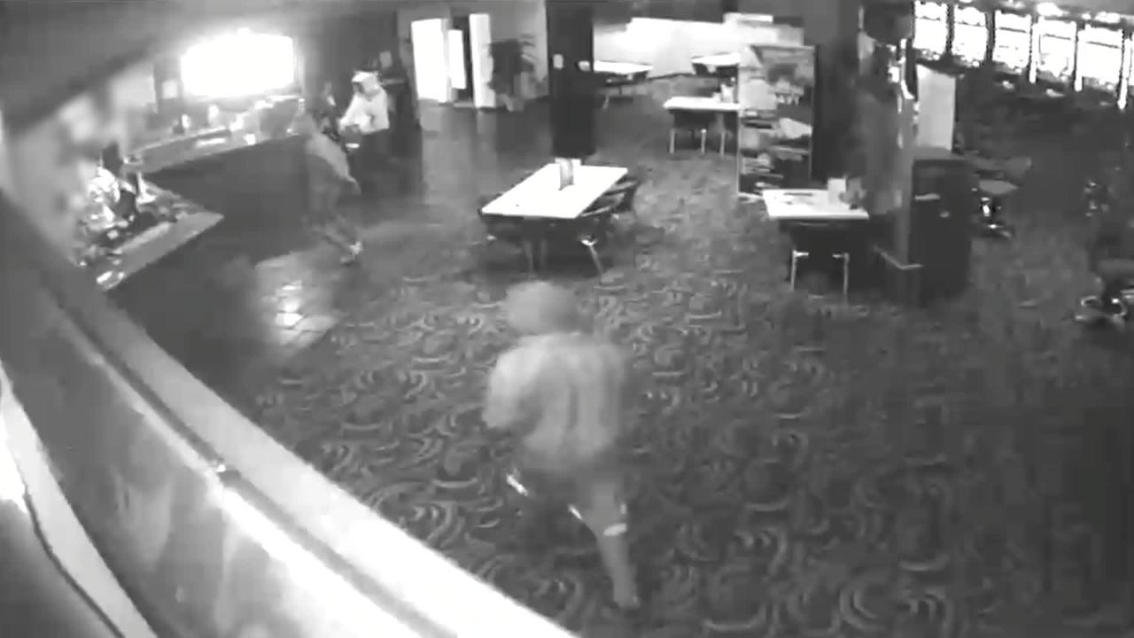 Three knife wielding bandits were caught on camera as they robbed Bartletts Tavern.