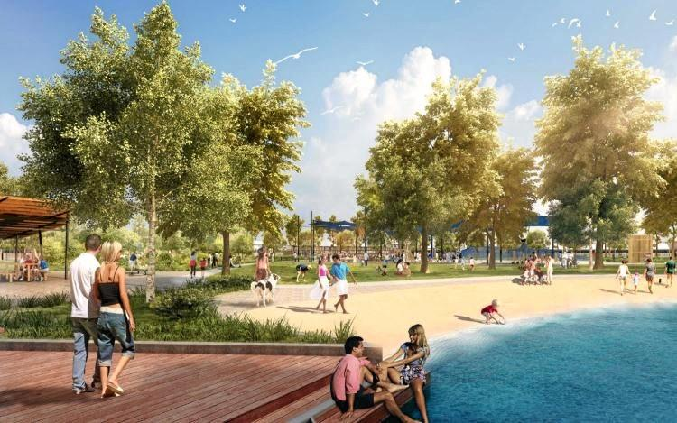 VISION: A concept of the Twin Waters West development.
