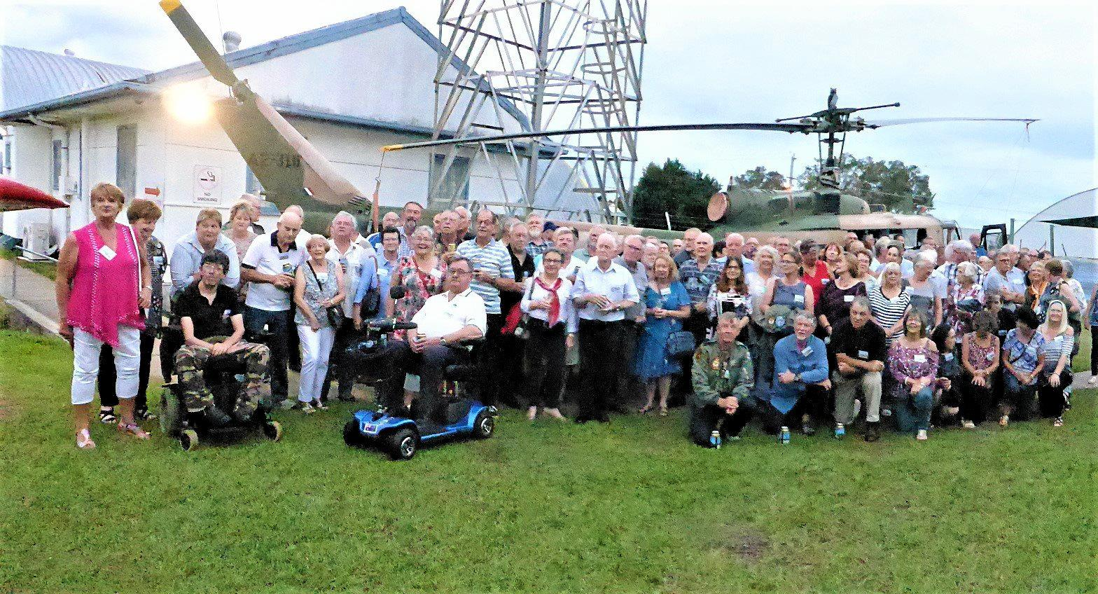 A DATE WITH 'HUEY': More than 100 RAAF 5 Squadron veterans recently held a reunion at the Queensland Air Museum with A2-310.