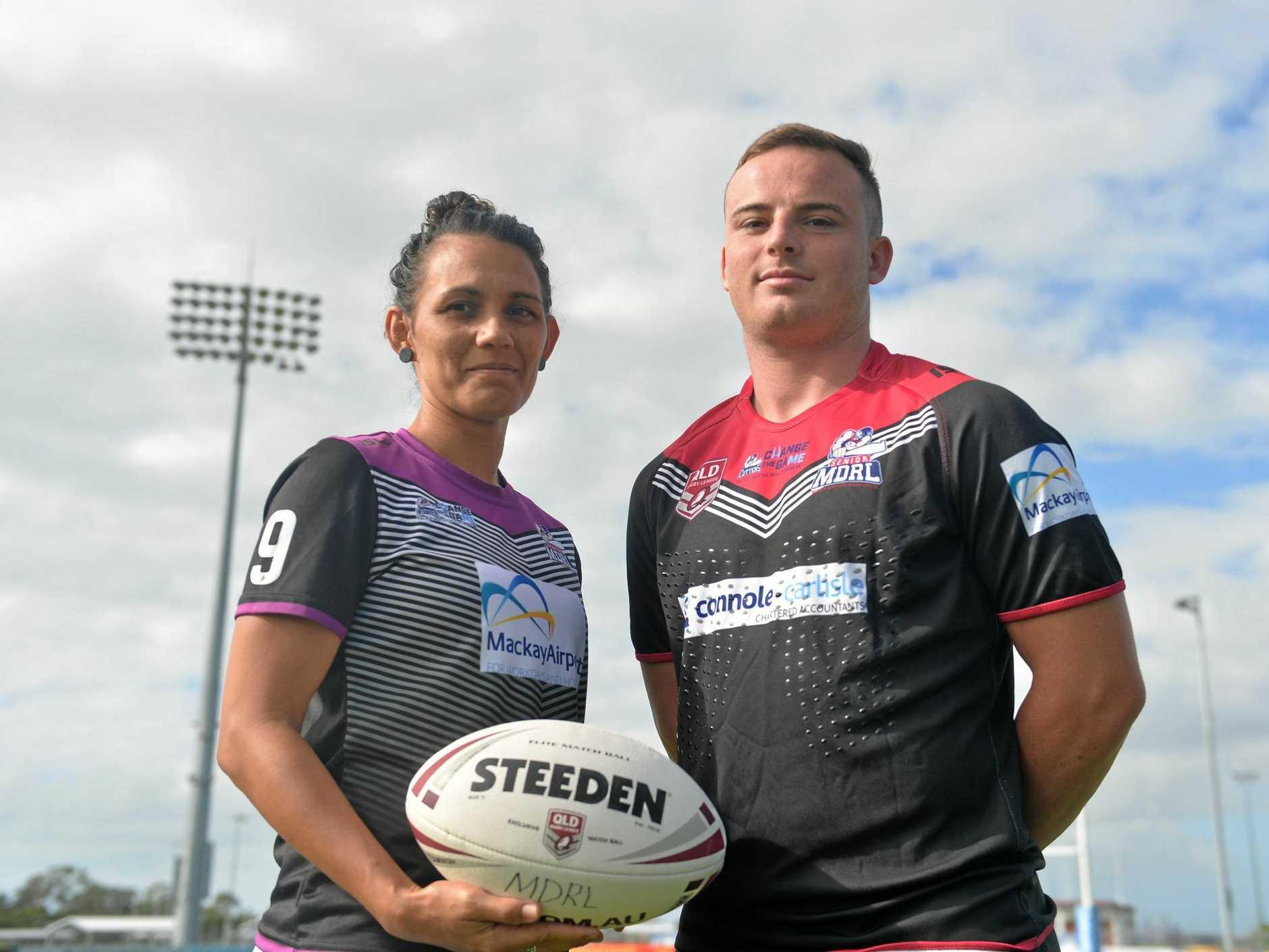 Mackay Foley Shield players Naomi Temby and Beaudan Dixon.