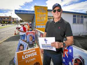 Senator Anning makes appearance at Gladstone polling booth