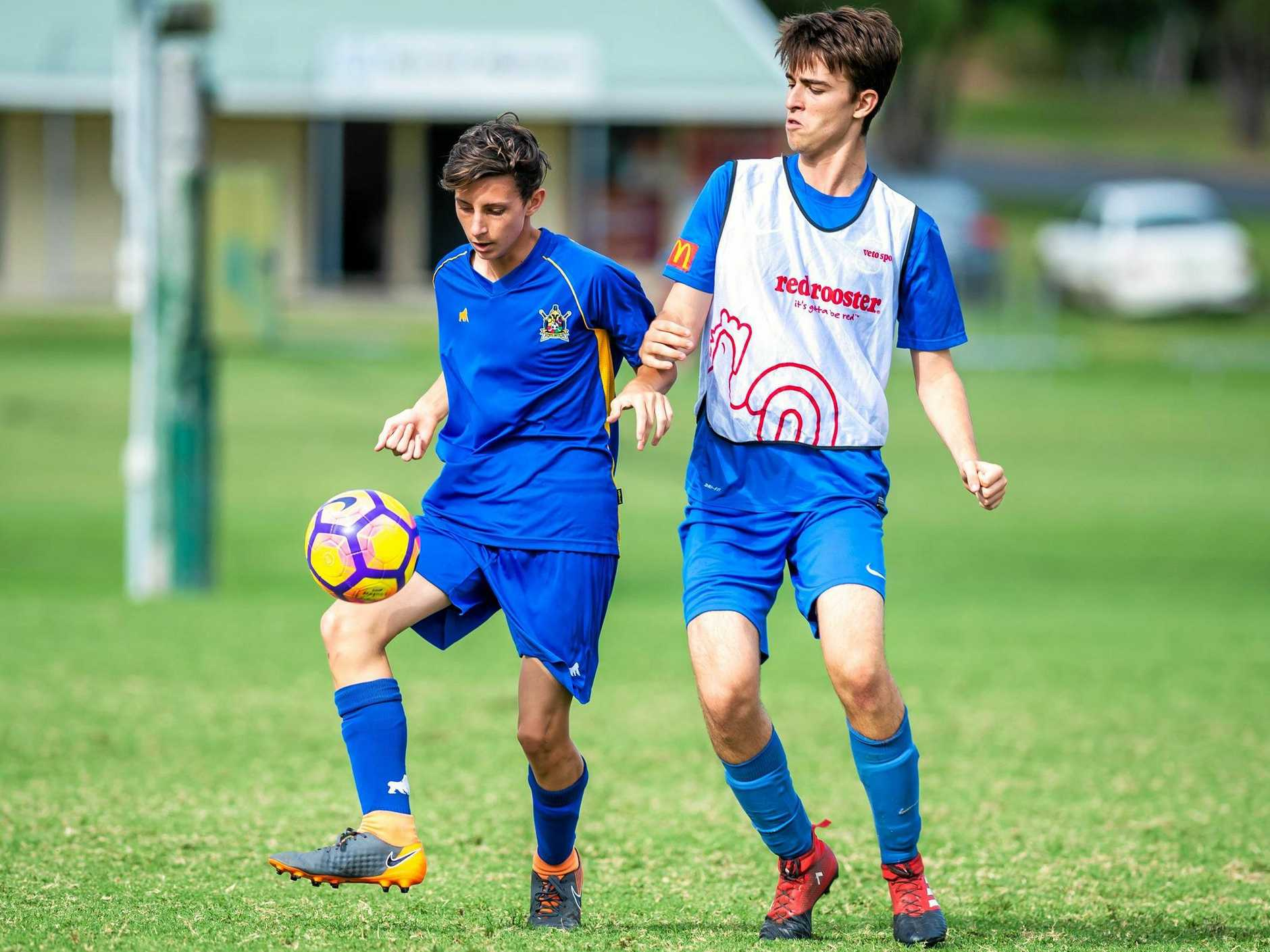 LEADING THE ATTACK: Jacob Robson scored the first of Gympie United's two goals to help extend their undefeated run on Saturday.