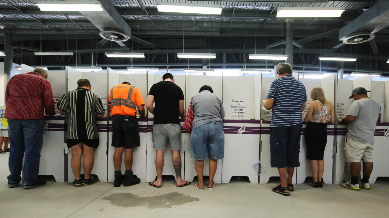 Cairns residents cast their vote in the 2016 Feder