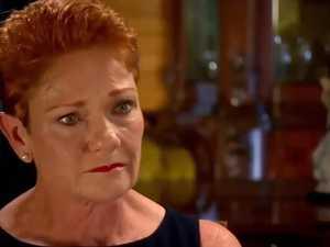 Surprise reaction to Hanson's tears