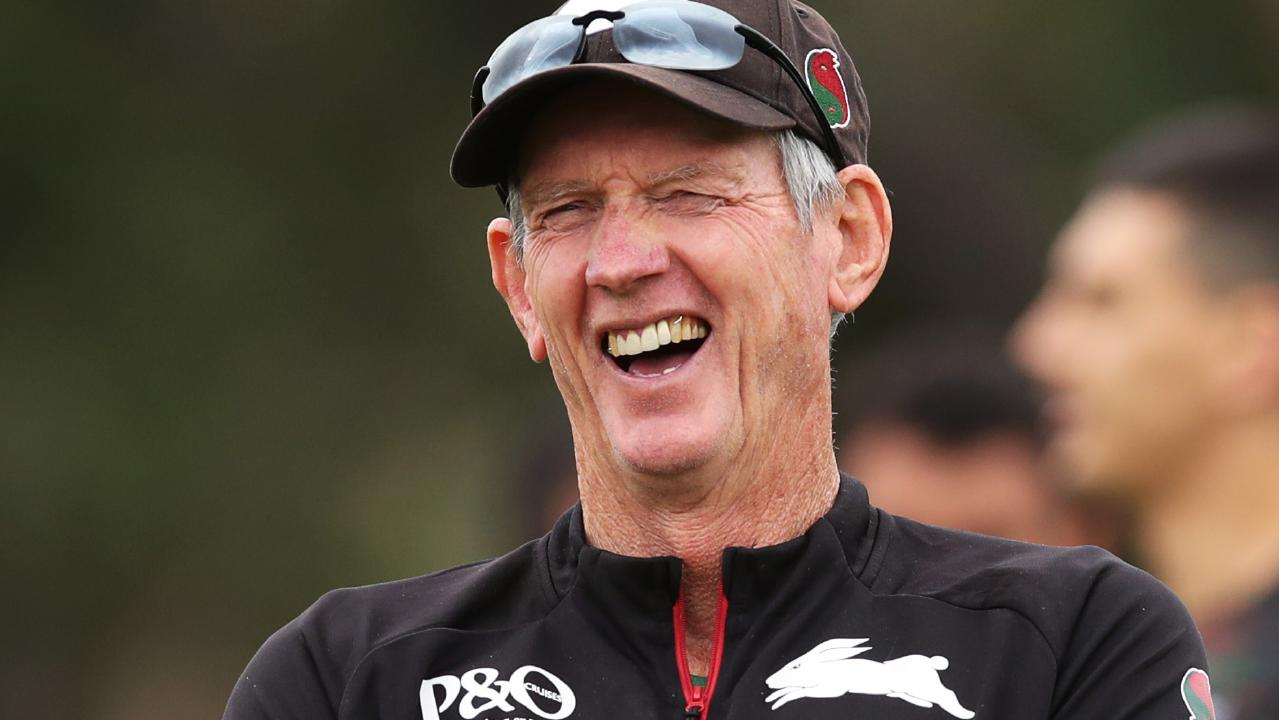 Wayne Bennet intends to have the last laugh when his Rabbitohs come up against his old team. Picture: Phil Hillyard
