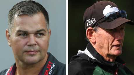 Anthony Seibold and Wayne Bennett will square off on Thursday.