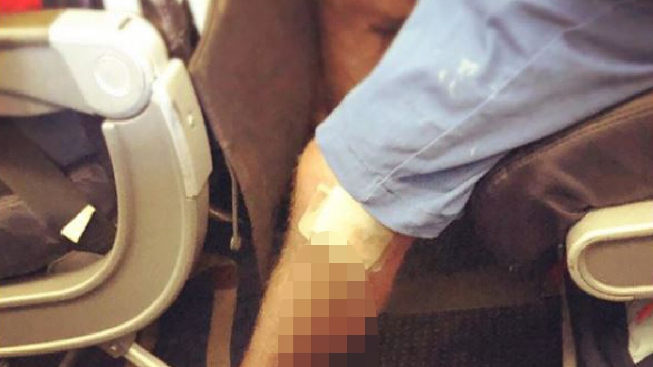 This image has been deemed to be the worst addition to the Passenger Shaming Instagram page yet. Picture: Passenger Shaming