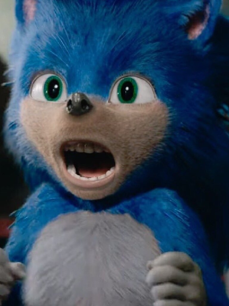 The new look Sonic the Hedgehog.