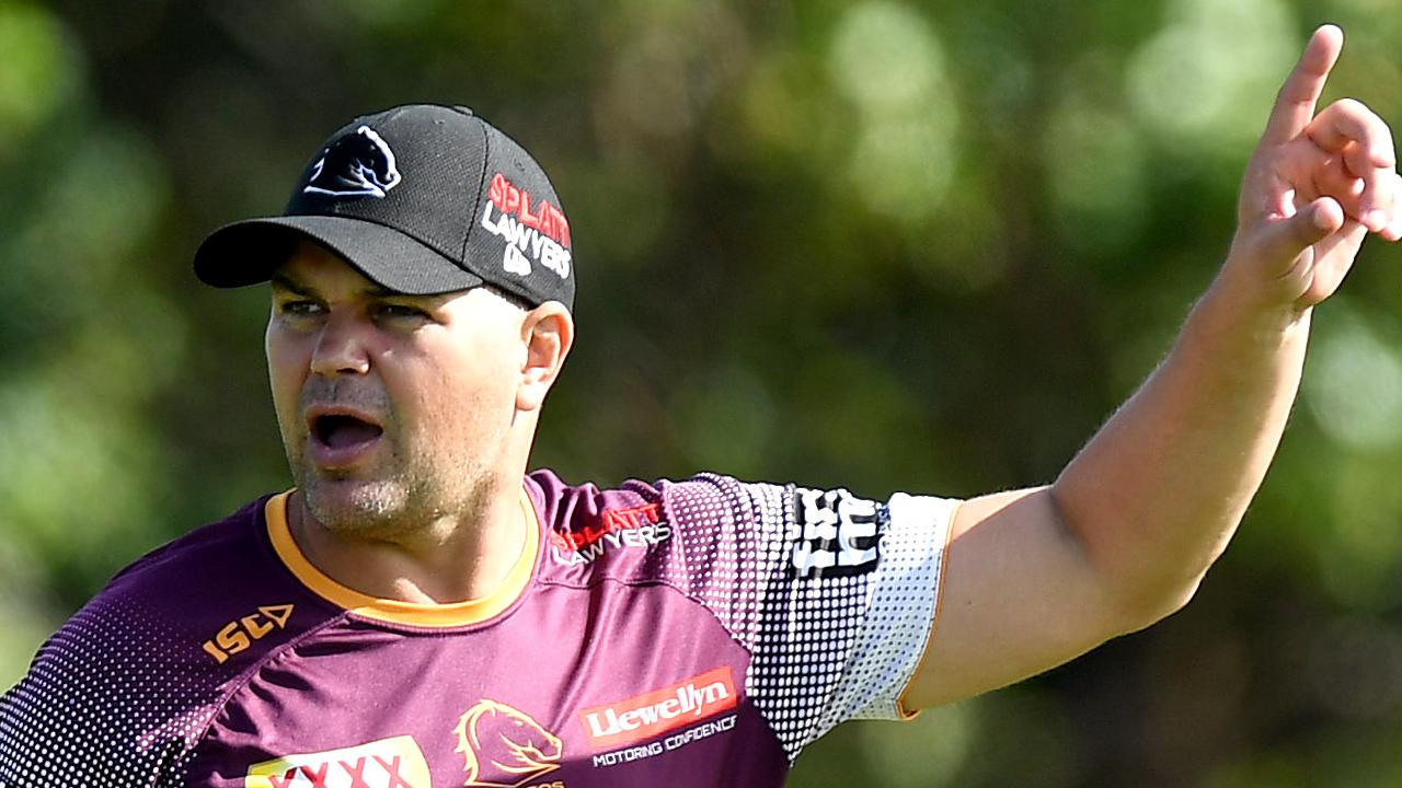 Broncos' coach Anthony Seibold is desperate for a win over his old team South Sydney. Picture: Bradley Kanaris/Getty Images)