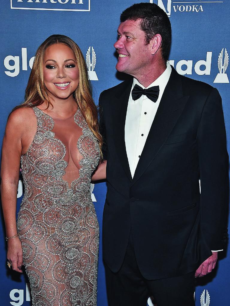 Mariah Carey and James Packer in 2016.