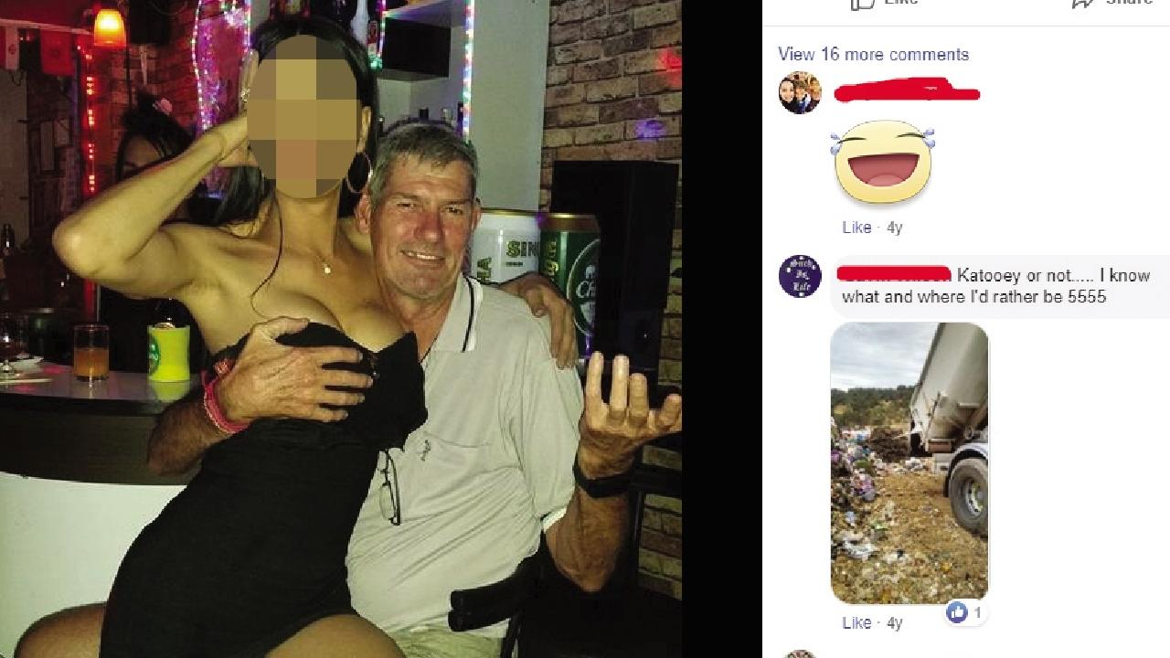 One Nation's candidate for Leichhardt Ross Macdonald's social media account contains several questionable images with sexist overtones. PICTURE: FACEBOOK