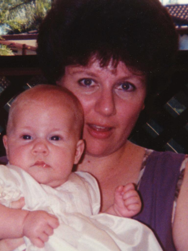 Serial child killer Kathleen Folbigg with her baby Sarah.