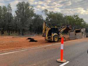 Charleville road train rollover