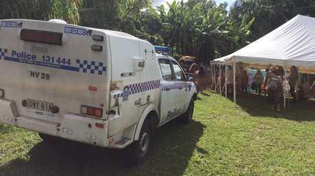 A police raid is under way at the Nimbin Hemp Embassy.
