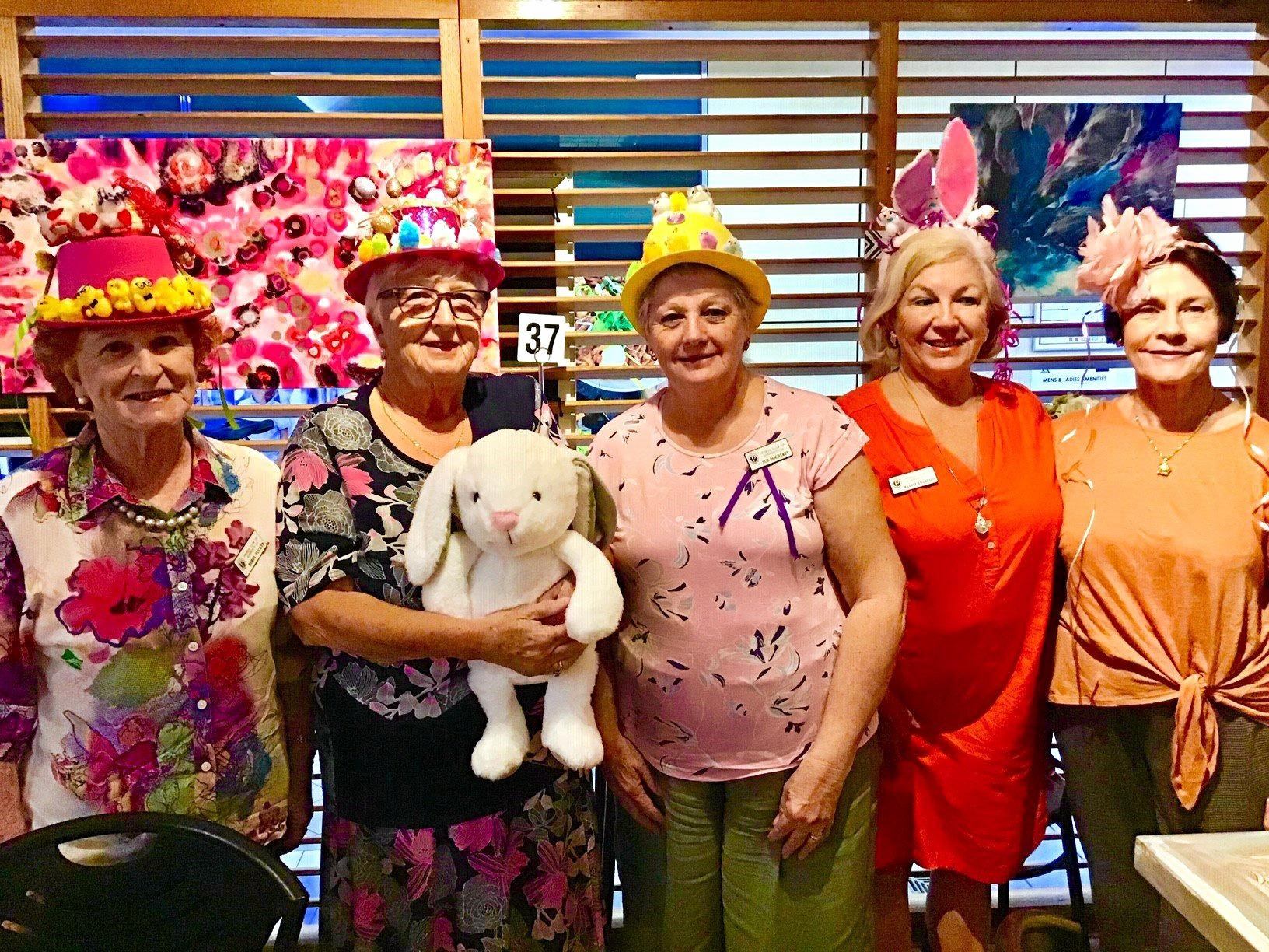 HAPPY TIMES: Sorrento Probus Club members proudly wearing Easter bonnets at their egg-cellent function held at Cafe 20, Ashmore.