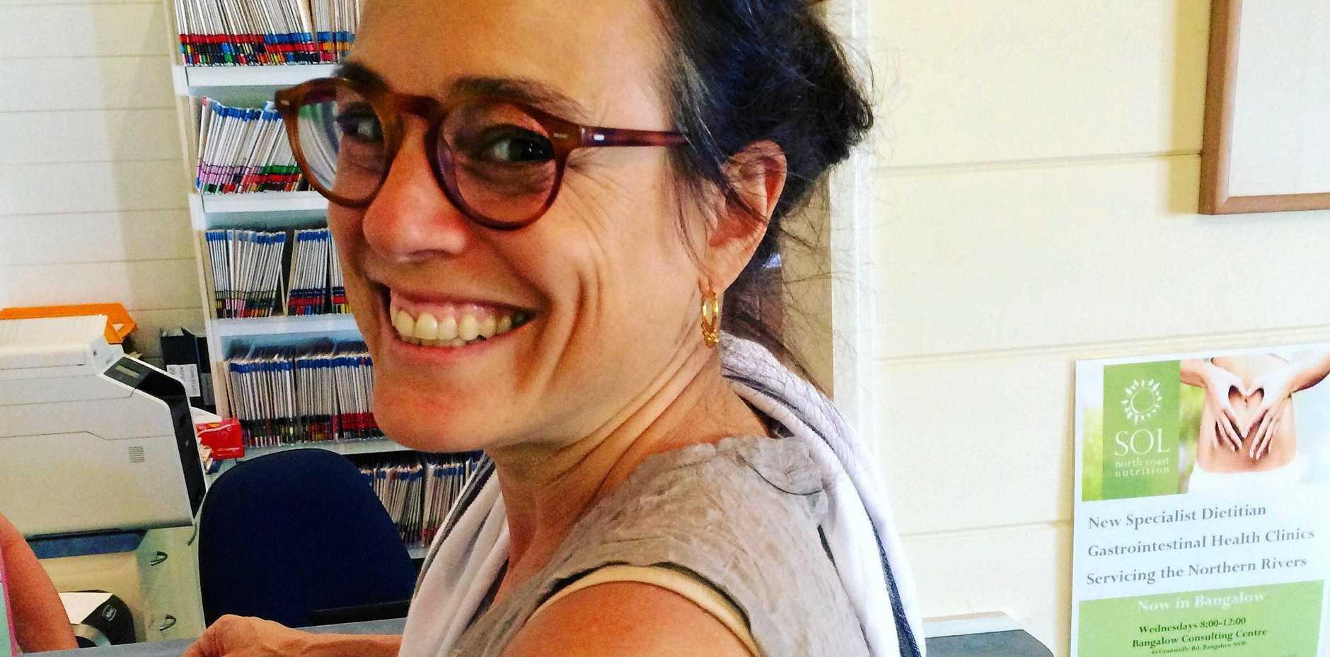 LIFE SAVING: Type 1 diabetic Rachel Zinman wearing her flash glucose monitoring sensor.
