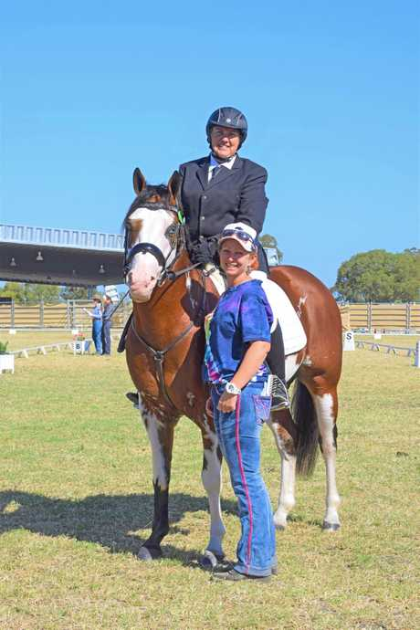 CHAMPIONS: Tenelle ter Rahe with Cookie, her two-year-old paint colt have become national champions.