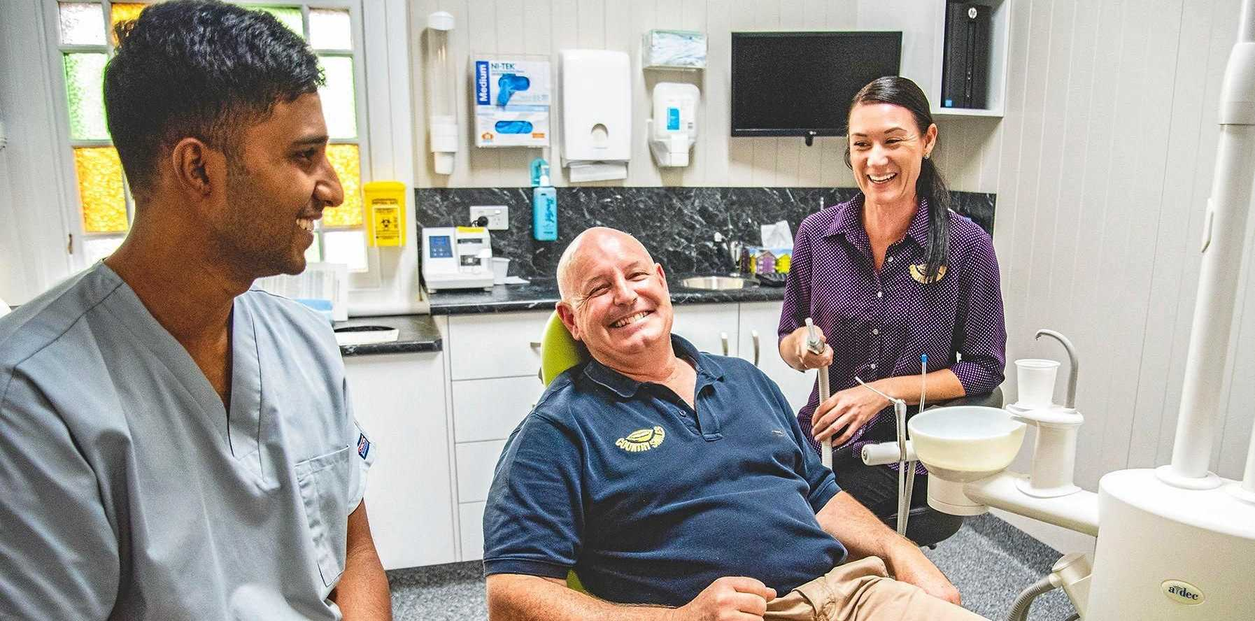 Dr Sadit Reza, John Payne and Kira Wilde are part of a growing team of dental professionals at Country Smiles Dental Services in Warwick.