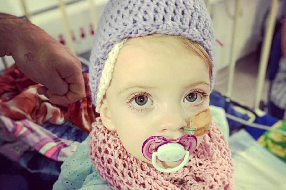 WARRIOR: Jonni, at just 20-months-old, is battling kidney cancer.