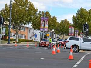 Traffic lights out at Warwick intersection