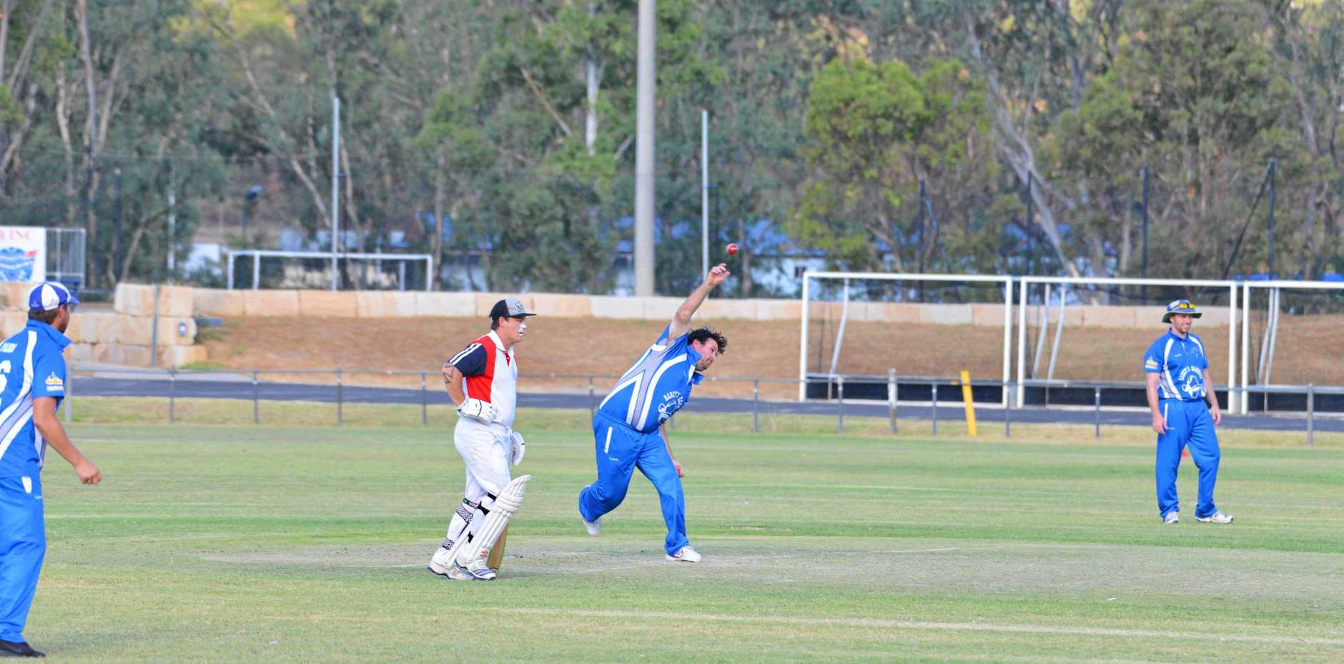 CAPTAIN: Dave Walker (pictured bowling in the Australia Day Carnival) is Warwick captain for the Davis Shield final.