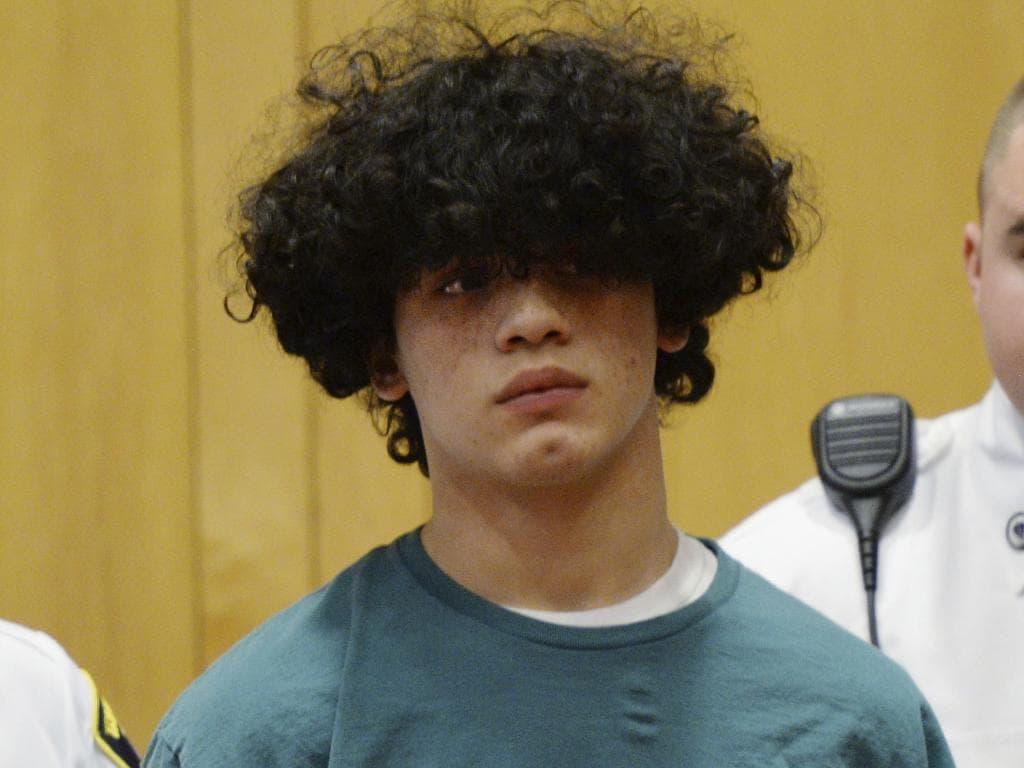 Mathew Borges allegedly cut his classmate's head off. Picture: Paul Bilodeau/The Eagle-Tribune via AP