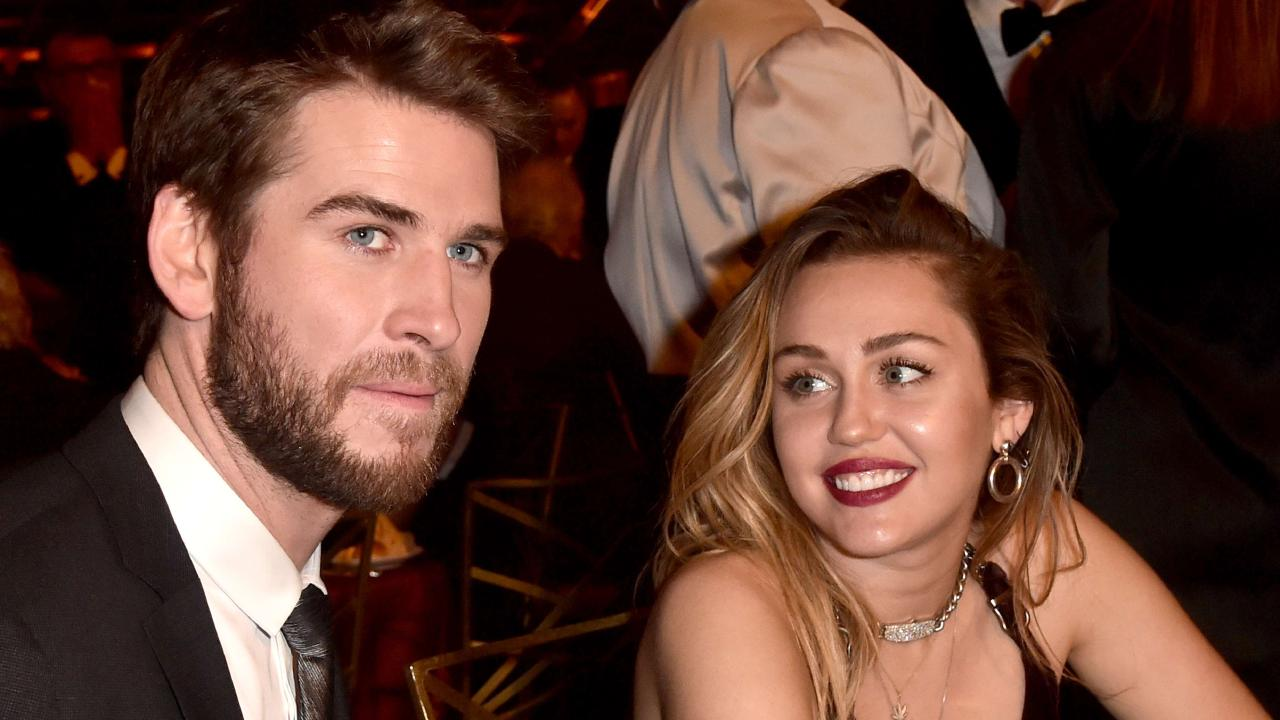 Liam Hemsworth and Miley Cyrus. Alberto E. Rodriguez/Getty Images/AFP