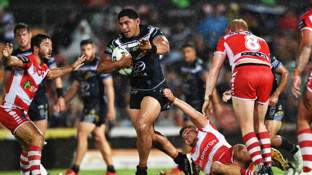 Taumalolo was unstoppable against the Dragons in Round 1. Picture: Zak Simmonds
