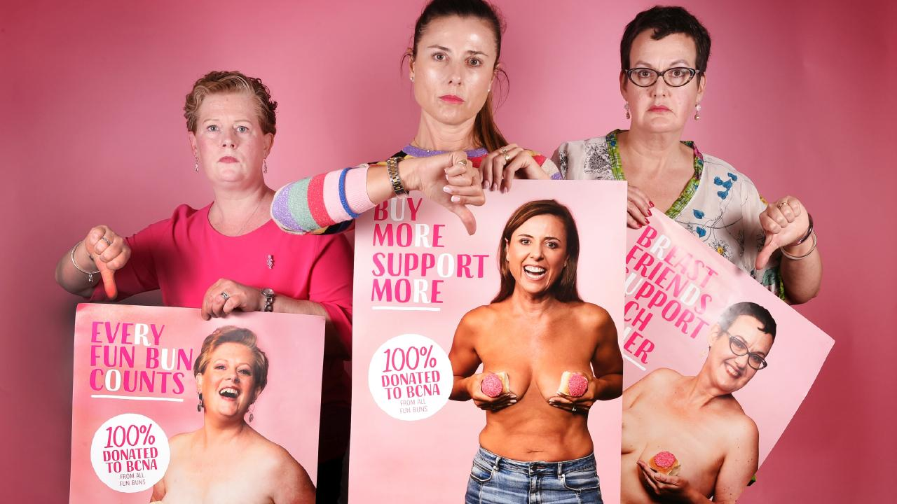 Breast cancer survivors have slammed social media giant Facebook for disabling an advertising campaign that aims to raise awareness of the disease. Picture: Tony Gough